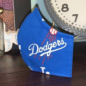 Dodgers Print Adult Face Mask